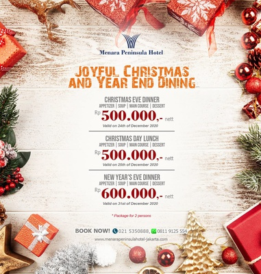 Joyful Christmas & Year End Dining Package Menara Peninsula Hotel